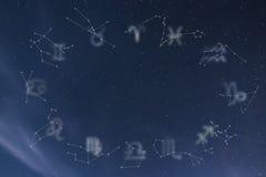 Constelações do zodíaco Sinais do zodíaco Sinais do zodíaco ilustração do vetor