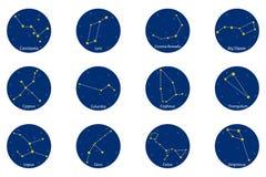 Constelações, ilustração do vetor Imagem de Stock Royalty Free