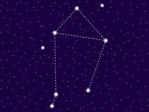 Constela??o da Libra C?u nocturno estrelado Sinal do zod?aco Objetos do espaço, galáxia Vetor ilustração stock