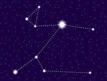 Constela??o de Canis Major C?u nocturno estrelado Objetos do espaço, galáxia Vetor ilustração stock