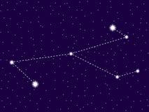Constela??o de Monoceros C?u nocturno estrelado Objetos do espaço, galáxia Vetor ilustração stock