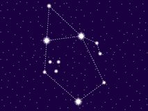 Constela??o do Auriga C?u nocturno estrelado Objetos do espaço, galáxia Vetor ilustração do vetor