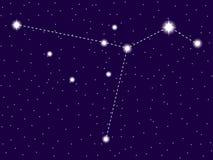 Constela??o do Columba C?u nocturno estrelado Objetos do espaço, galáxia Vetor ilustração royalty free