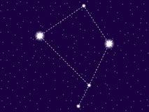 Constela??o do Corvus C?u nocturno estrelado Objetos do espaço, galáxia Vetor ilustração do vetor