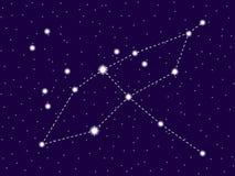 Constela??o do Cygnus C?u nocturno estrelado Conjunto de estrelas e de galáxias Espa?o profundo Vetor ilustração royalty free