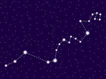Constela??o do Hydra C?u nocturno estrelado Objetos do espaço, galáxia Vetor ilustração stock