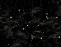 Constelación de Andromeda Fotografía de archivo