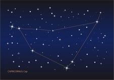 Constelación de Capricornus Foto de archivo libre de regalías