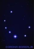 Constelación de Corona Borealis Imagen de archivo libre de regalías