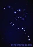 Constelación de Eridanus Fotos de archivo libres de regalías