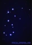Constelación de la estrella del acuario Fotografía de archivo