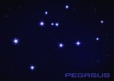 Constelación de Pegaso Foto de archivo libre de regalías