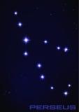 Constelación de Perseus Imagen de archivo libre de regalías