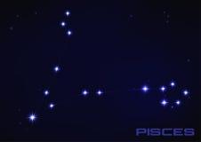 Constelación de Piscis Foto de archivo