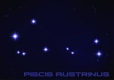 Constelación de Piscis Austrinus Fotos de archivo libres de regalías