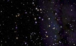 Constelación de sagitario delante de la vía láctea Fotografía de archivo libre de regalías