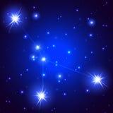 Constelación del cáncer Foto de archivo libre de regalías