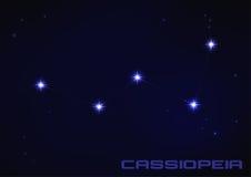 Constelación del Cassiopeia Imágenes de archivo libres de regalías