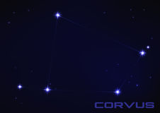 Constelación del Corvus Fotografía de archivo libre de regalías