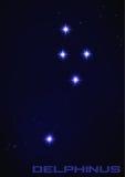 Constelación del Delphinus Fotos de archivo