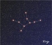 Constelación del virgo (la Virgen) Imagen de archivo libre de regalías