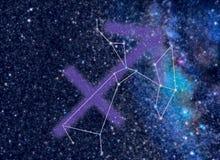 Constelación del zodiaco de Saggitarius Foto de archivo libre de regalías