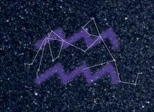 Constelación del zodiaco del acuario Imágenes de archivo libres de regalías