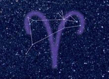 Constelación del zodiaco del aries Fotos de archivo