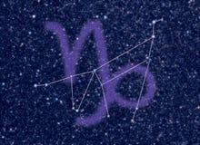 Constelación del zodiaco del Capricornio Imágenes de archivo libres de regalías