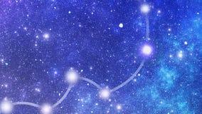 Constelación Hydrae (Hya) ilustración del vector