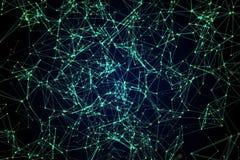 Constelaciones de líneas y de puntos Foto de archivo