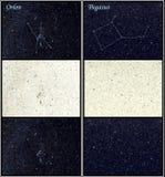 Constelaciones de Orion y de Pegasus Foto de archivo libre de regalías