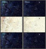 Constelaciones de Scorpius y del tauro Imagenes de archivo