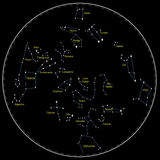 Constelações da estrela Imagens de Stock