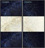 Constelações do Cassiopeia e do Centaurus Fotos de Stock Royalty Free
