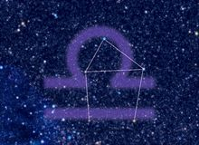 Constelação do zodíaco do Libra Fotos de Stock