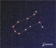 Constellatie Tweeling Stock Afbeelding