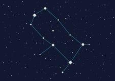 Constellatie Tweeling vector illustratie