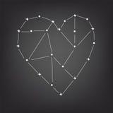 Constellatie van het hart Stock Foto
