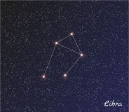 Constellatieweegschaal Royalty-vrije Stock Afbeeldingen