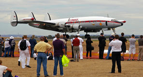 Constellation aircraft - Avalon Airshow 2009. The constellation passenger aircraft that flew the kangaroo route from England to Australia on show at the Avalon stock photo
