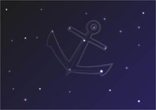 Constellation Anchor Stock Images