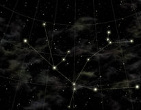 Constellation of Andromeda. Star map of sky. Constellation of Andromeda, located in the north hemisphere of sky. Second name of constellation, Fog of Andromeda Stock Photography
