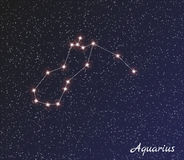 Constellation aquarius Stock Image