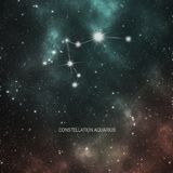 Constellation Aquarius - zodiac Stock Images