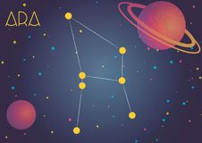 The constellation Ara. Bright image of the constellation Ara. Kids who are fond of astronomy will like it very much vector illustration
