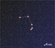 Constellation aries Stock Photo