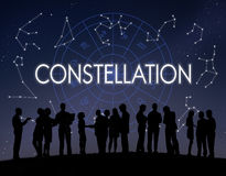 Constellation Astronomy Horoscope Fortune Telling Zodiac Concept royalty free stock photography