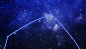 Constellation Auriga (Aur) stock video footage