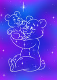 Constellation she-bear and little Bear Stock Images